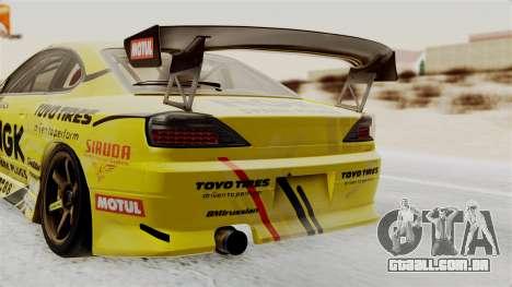 Nissan Silvia S15 RDS NGK para GTA San Andreas vista traseira