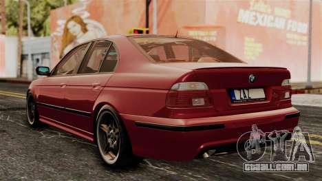 BMW 530D E39 2001 Mtech para GTA San Andreas esquerda vista
