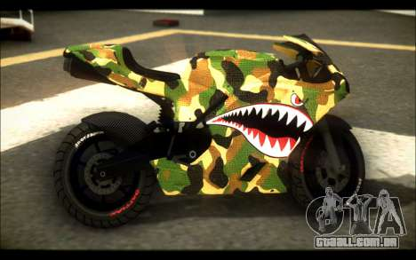 Bati Motorcycle Camo Shark Mouth Edition para GTA San Andreas