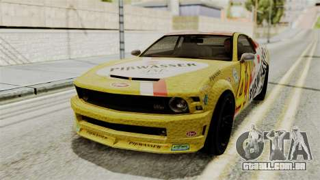 GTA 5 Vapid Dominator IVF para GTA San Andreas vista interior