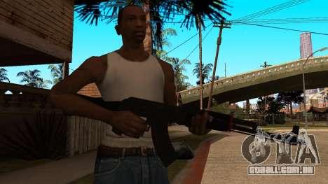 AK-47 Linha Vermelha do CS:GO para GTA San Andreas terceira tela