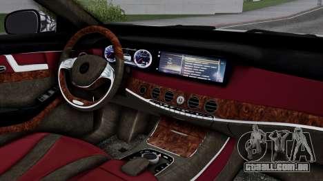 Brabus 850 Chrome para GTA San Andreas vista direita