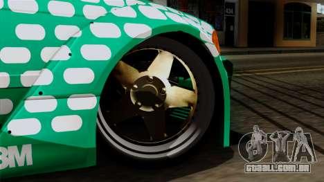BMW M3 E36 Tic Tac para GTA San Andreas traseira esquerda vista