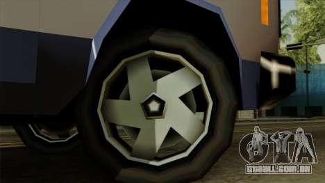 Bobcat from Vice City Stories IVF para GTA San Andreas traseira esquerda vista