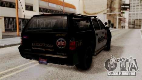 Sheriff Granger Police GTA 5 para GTA San Andreas esquerda vista
