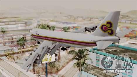 Boeing 747-200 Thai Airways para GTA San Andreas esquerda vista
