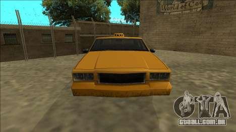 Tahoma Taxi para GTA San Andreas vista direita