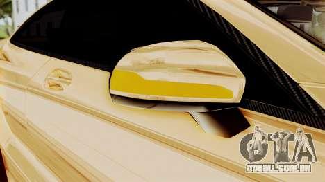 Brabus 850 Gold para GTA San Andreas vista superior