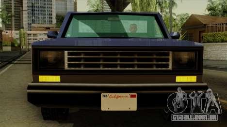 Bobcat from Vice City Stories IVF para GTA San Andreas vista interior