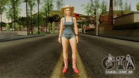 Dead Or Alive 5 Tina Overalls para GTA San Andreas segunda tela