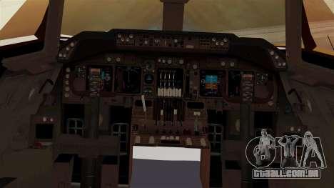 Boeing 747-100 UPS Old para GTA San Andreas vista interior