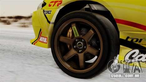 Nissan Silvia S15 RDS NGK para GTA San Andreas traseira esquerda vista