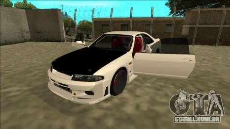 Nissan Skyline R33 Drift para GTA San Andreas vista traseira