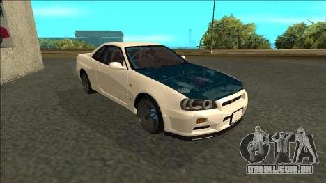 Nissan Skyline R34 Drift para GTA San Andreas esquerda vista