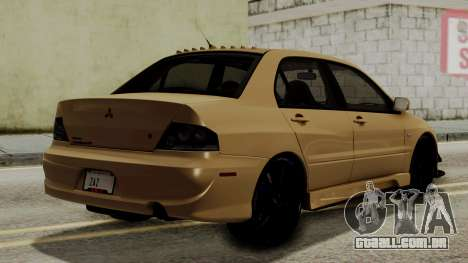 Mitsubishi Lancer Evolution IX MR 2006 para GTA San Andreas esquerda vista