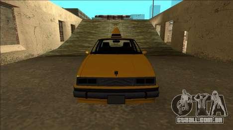 Willard Taxi para GTA San Andreas vista superior