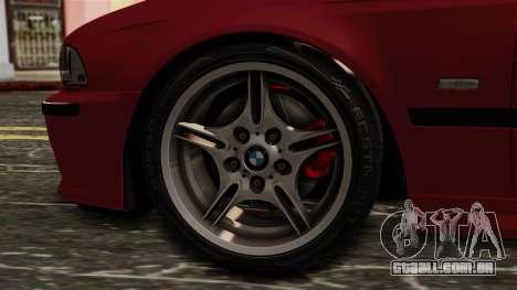 BMW 530D E39 2001 Mtech para GTA San Andreas traseira esquerda vista