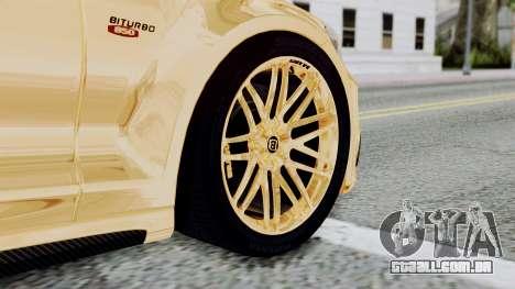 Brabus 850 Gold para GTA San Andreas traseira esquerda vista