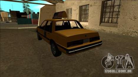Willard Taxi para GTA San Andreas traseira esquerda vista
