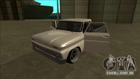 Chevrolet C10 Drift para GTA San Andreas vista interior