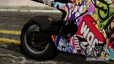 Bati Motorcycle JDM Edition para GTA San Andreas vista traseira