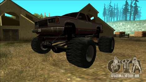 New Yosemite v2 Monster para GTA San Andreas esquerda vista