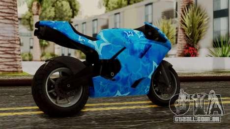 Bati VIP Star Motorcycle para GTA San Andreas esquerda vista