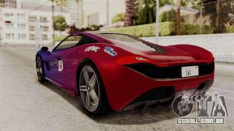 GTA 5 Progen T20 IVF para GTA San Andreas vista inferior