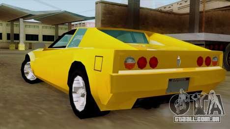 Cheetah from Vice City Stories IVF para GTA San Andreas esquerda vista