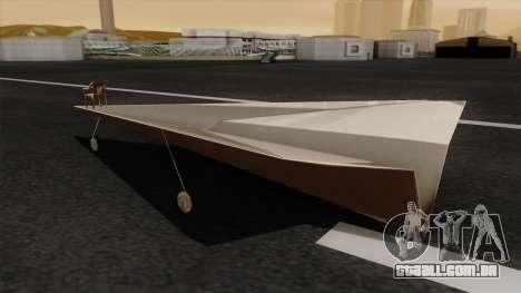 Avião de papel para GTA San Andreas esquerda vista