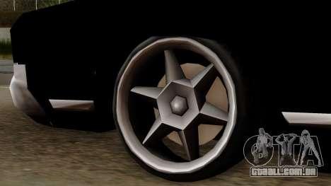 Muscle-Sabre Beta v1 para GTA San Andreas traseira esquerda vista