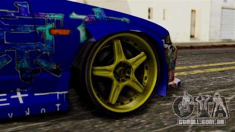 Nissan Skyline R33 Widebody Itasha para GTA San Andreas traseira esquerda vista