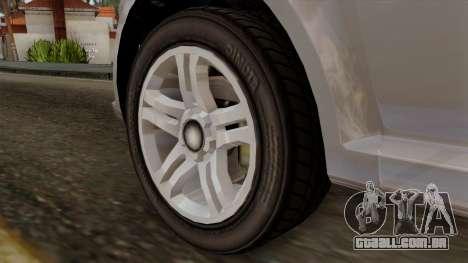 GTA 5 Declasse Asea para GTA San Andreas traseira esquerda vista