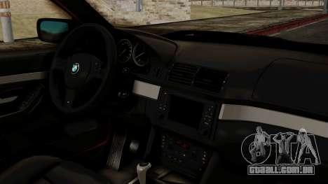 BMW 530D E39 2001 Mtech para GTA San Andreas vista direita