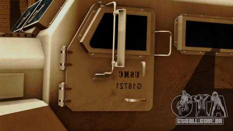 MRAP Cougar 4x4 para GTA San Andreas vista traseira