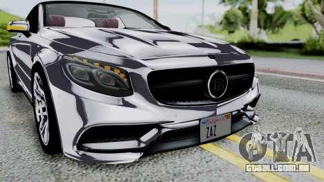 Brabus 850 Chrome para vista lateral GTA San Andreas