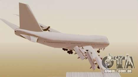 Boeing 747 Template para GTA San Andreas esquerda vista