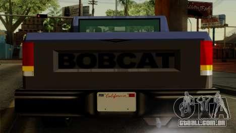 Bobcat from Vice City Stories IVF para GTA San Andreas vista superior