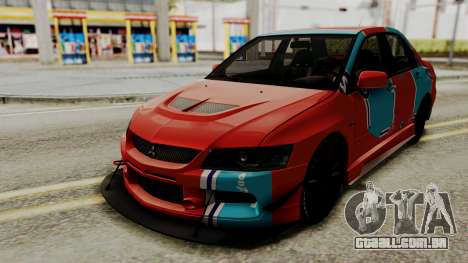 Mitsubishi Lancer Evolution IX MR 2006 para vista lateral GTA San Andreas