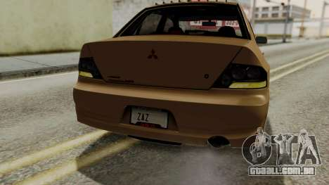Mitsubishi Lancer Evolution IX MR 2006 para o motor de GTA San Andreas