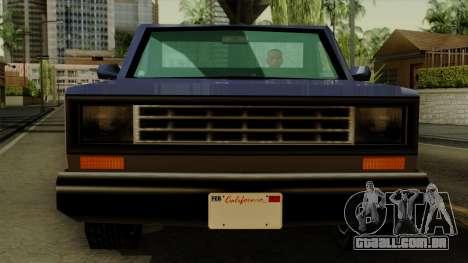 Bobcat from Vice City Stories IVF para GTA San Andreas vista traseira