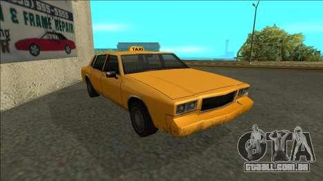 Tahoma Taxi para GTA San Andreas esquerda vista
