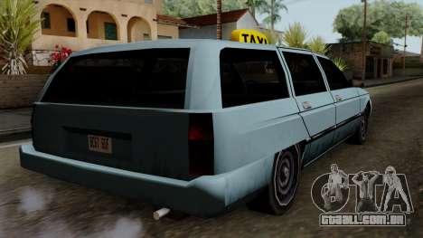 Taxi Solair para GTA San Andreas esquerda vista