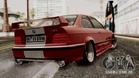 BMW M3 E36 Strike para GTA San Andreas esquerda vista
