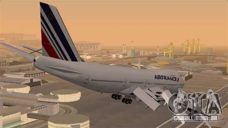 Boeing 747 Air France para GTA San Andreas esquerda vista