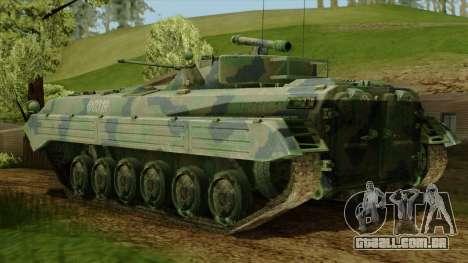 CoD 4 MW 2 BMP-2 Woodland para GTA San Andreas esquerda vista