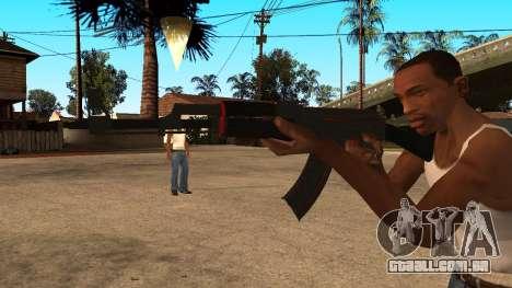 AK-47 Linha Vermelha do CS:GO para GTA San Andreas segunda tela