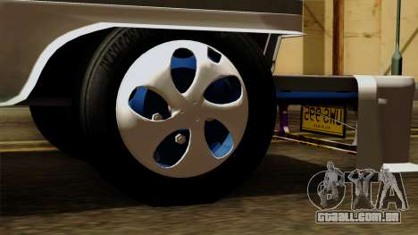 Auto Pormado - Gabshop Custom Jeepney para GTA San Andreas traseira esquerda vista