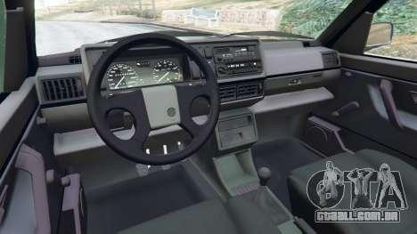 GTA 5 Volkswagen Golf Mk2 GTI vista lateral direita