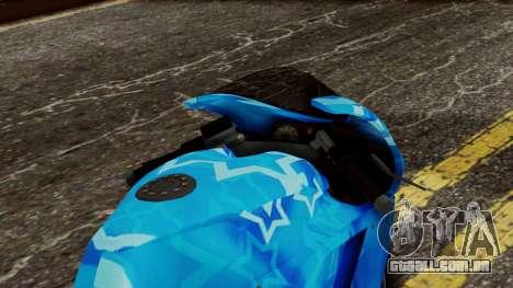 Bati VIP Star Motorcycle para GTA San Andreas vista traseira